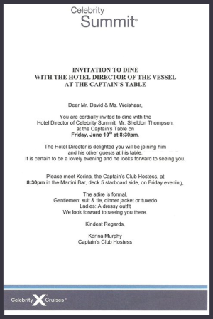 captain invitation